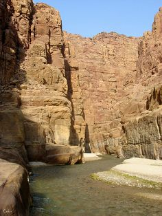 Sic Entrance, Mujib Reserve of Wadi Mujib, Jordan - reserve created in 1987 by the Royal Society for the Conservation of Nature -