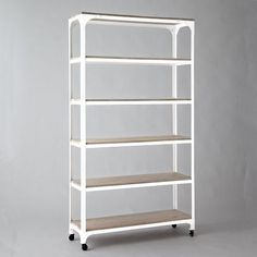 White Washed Wood + Metal Shelves | West Elm | $899