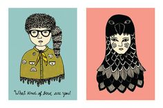 Moonrise Kingdom  Wes Anderson  Suzy and Sam  17 x 23 by anaiaia, $32.00