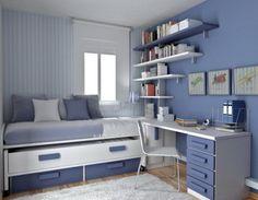 DORMITORIOS AZULES - BLUE BEDROOMS : Dormitorios: Fotos de dormitorios Imágenes de habitaciones y recámaras, Diseño y Decoración
