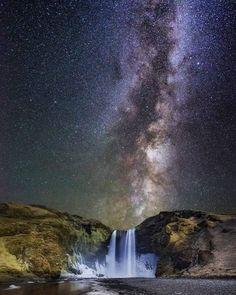 378 отметок «Нравится», 8 комментариев — Taner Göçer (@astro_taner) в Instagram: «Waterfall and Milky way.. by Pinterest »