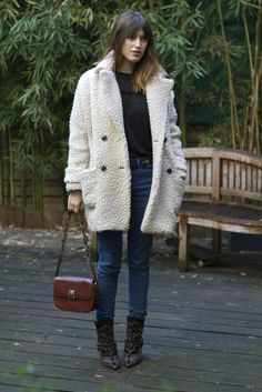 JEANNE DAMAS jeans purs coat fashion women Style streetstyle tumblr denim