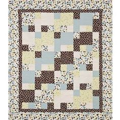 "Perfect for beginners and the experienced alike, this five-piece one-block wonder has no matching seams to deal with. Makes a 48"" x 60"" wall/lap quilt or a 64"" x 76"" bed quilt. Image featured was made using the Bold & Beautiful Breezy Fabric Pack from Benartex, shown below."