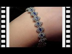 Bollywood Bracelet with Tila beads Beading Tutorial by HoneyBeads1 (with tila beads) - YouTube