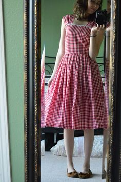 Vintage Sewing Project ❘❘ 1950s Gingham Sundress