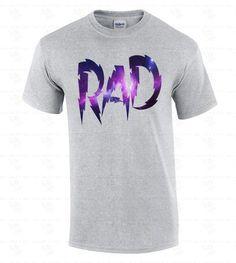 RAD Galaxy Men's T-SHIRT Fashion Swag Funny Dope Radical Tee Space Astro 80's | eBay