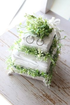 Ring Pillow, Ring Bearer, Clay Art, Herbs, Natural, Wedding, Valentines Day Weddings, Ring Pillows, Ring Bearer Pillows