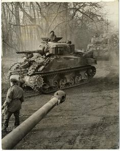 "The British Sherman III nicknamed ""Shaggy Dog"", 8th Armored Brigade. It was later knocked out and replaced by a Sherman Ic Hybrid IIRC- ""Shaggy Dog 2"".  #worldwar2 #tanks"