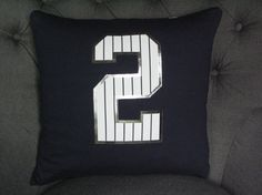 Derek Jeter TShirt Pillow. 16 X 16 by ThePastureRoad on Etsy
