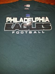 Details about New Philadelphia Eagles Men s T-shirt Green NFL Adult Sizes Tee  Shirt Football e9ab0e0d5