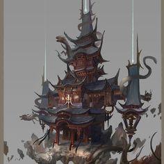 Wushen Temple by Nunchakus Chen on ArtStation.