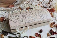 Купить Шкатулка для украшений - бежевый, шкатулка, шкатулка для украшений, шкатулка деревянная, шкатулка для мелочей