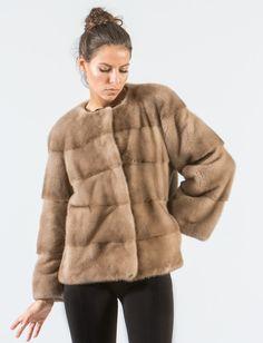 6cf4ba0645df9 Pastel Mink Short Fur Jacket  pastel  mink  fur  jacket  collarless  . Haute  Acorn