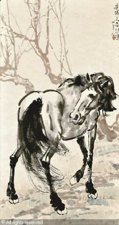 Horse, by Xu Beihong, Chinese, (1895-1953)