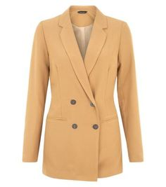 Camel Double Breasted Blazer  | New Look