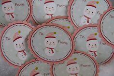 Cadeau de Noël de SnowGirL Tags bonhomme de neige par Bellezaeluce