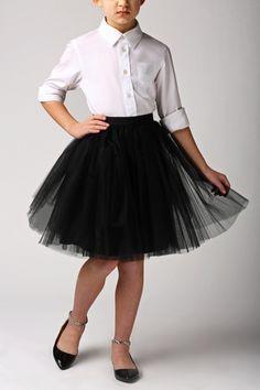 Faldas infantiles (8-12 años) - Falda tutu de tul para niñas - Tutu tulle skirt for girl 8-12 years old - hecho a mano en DaWanda.es