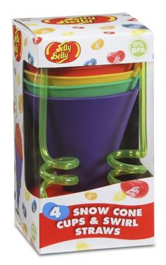 Jelly Belly Silicone Cups And Swirl Straws, 2015 Amazon Top Rated Ice Crushers #Kitchen