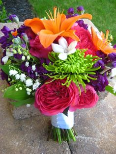april wedding colors   her bridal bouquet was designed with orange lilies baroness garden ...
