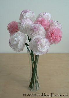 Pintei e Bordei by Monique Igarachi: Flores de papel de seda - Passo a Passo