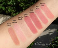 Tom Ford Lipstick swatches