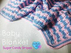 Sugar Candy Stripes: Crochet Baby Blanket - free pattern ♡ Teresa Restegui http://www.pinterest.com/teretegui/ ♡