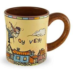 Fiddler On The Roof Oy Vey Mug - Traditions Jewish Gifts Coffee Corner, My Coffee, Coffee Time, Coffee Cups, Tea Time, Fiddler On The Roof, Jewish Gifts, Festival Lights, Coffee Quotes