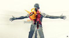 Didier Drogba Wallpaper (Galatasaray) by AlbertGFX on deviantART #AlbertGFX #football #wallpaper