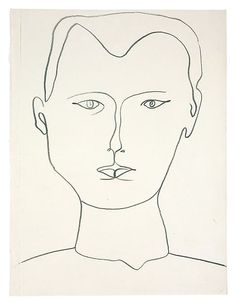 Ellsworth Kelly, Self-Portrait, 1949