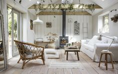 〚 Cozy summer house created by IKEA 〛 ◾ Photos ◾Ideas◾ Design Home Interior, Interior Design, Living Area, Living Room, Cottage Living, Turbulence Deco, Ikea Family, Farmhouse Remodel, Farmhouse Renovation