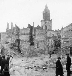 The ruins of the ghetto in Lublin.