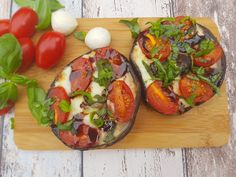 Gevulde Portobello; met Italiaanse smaken gevuld Portobello, Vegetarian Recipes, Cooking Recipes, Healthy Recipes, Healthy Food, Bbq, B Recipe, Happy Foods, Iftar