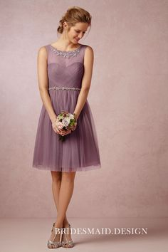 6459f9689d0 Pastel Purple Chiffon Short Bridesmaid Dress Short Lace Bridesmaid Dresses