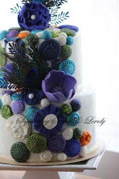 Peacock Wedding Cake Peacock Cake, Peacock Wedding Cake, Wedding Cakes, Cupcake Cakes, Cupcakes, Cake Ideas, Anna, Decorating Ideas, Birthday