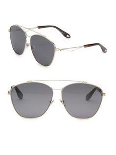 44f9f8a07f69 GIVENCHY 65Mm Double-Bridge Aviator Sunglasses.  givenchy  sunglasses