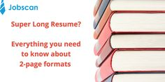 """""""3 Things to Know About Two-Page Resume Format""""  Check it out!"""