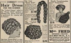 1908 hair styling pieces