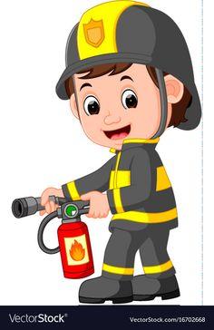 The Preschool cloud: Bomberos - The fire Brigade Nurse Clip Art, Baby Clip Art, Community Helpers Preschool, Community Workers, Flashcards For Kids, Art Drawings For Kids, Kids Education, School Projects, Preschool Activities