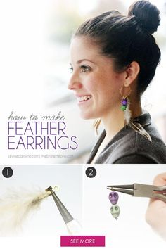 It's time to retire your dainty earrings and step out this fall with a pair of bold statement earrings made out of one of nature's finest adornments: feathers. Follow this simple DIY earring tutorial to make hoop feather earrings, a great piece of jewelry! Here's how to make them.