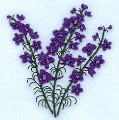 Larkspur - 4x4 | Floral - Flowers | Machine Embroidery Designs | SWAKembroidery.com Starbird Stock Designs