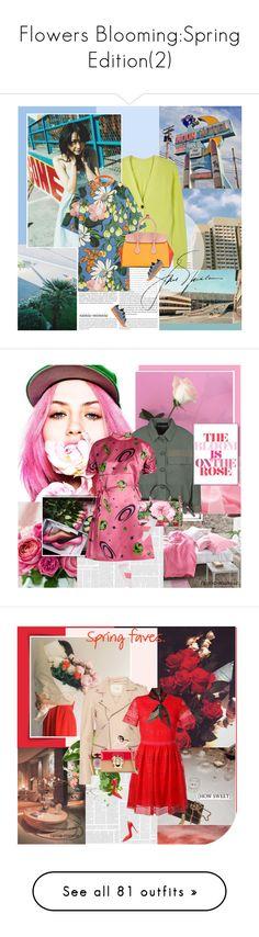 """Flowers Blooming:Spring Edition(2)"" by rainie-minnie ❤ liked on Polyvore featuring Oris, Proenza Schouler, Marni, adidas Originals, Bally, Emporio Armani, Miu Miu, Dolce&Gabbana, Valentino and Maje"