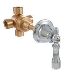 Create your own home spa with this Three Way In-Wall Shower Diverter. Combine multiple showerheads, handshowers and body jet sprays with this solid brass diverter for a custom shower experience. Combine with any in the wall shower or tub and shower faucet Tub And Shower Faucets, Shower Tub, Shower Heads, Shower Diverter Valve, Thing 1, Master Shower, Custom Shower, Shower Systems, Third Way