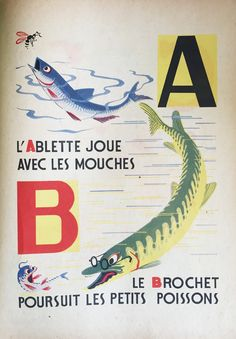 Alphabet des petit poissons 1944/45  illustrated by Maurice Lorrain