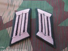 Wehrmacht Kragenspiegel, Offizier Pioniere, schwarz, Repro / mehr Infos auf: www.Guntia-Militaria-Shop.de