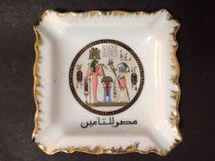 Estate Find - Vintage Limoges Fathi Mahmoud Egyptian Porcelain Ashtray Vintage Ceramic, My Ebay, Egyptian, Porcelain, Pottery, Ceramics, Ceramica, Ceramica, Porcelain Ceramics