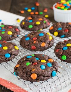 M&M and Butterfinger cookies: | 18 Easy And Decadent Desserts For People Obsessed With Chocolate