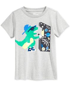 Little boys who love video games will get a kick out of this fun graphic-print T-shirt from Epic Threads. | Cotton/polyester | Machine washable | Imported | Crew neck  | Short sleeves | Solid hue with