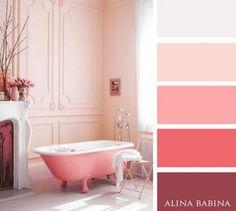 15 Combinaciones ideales de colores para interiores - rosados