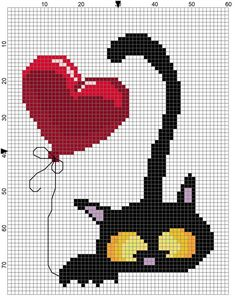 Thrilling Designing Your Own Cross Stitch Embroidery Patterns Ideas. Exhilarating Designing Your Own Cross Stitch Embroidery Patterns Ideas. Cat Cross Stitches, Cross Stitch Heart, Cross Stitch Animals, Cross Stitching, Embroidery Hearts, Hand Embroidery Patterns, Cross Stitch Embroidery, Embroidery Designs, Felt Embroidery