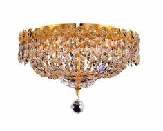 Elegant Lighting Swarovski Spectra Clear Crystal Century Single-Tier Flush Mount Crystal Chandelier, Finished in Gold with Clear Crystals Canopy Lights, Gold Chrome, Candelabra Bulbs, Flush Mount Lighting, Classic Elegance, Chandelier Lighting, Chandelier Ideas, Crystal Chandeliers, Crystal Pendant